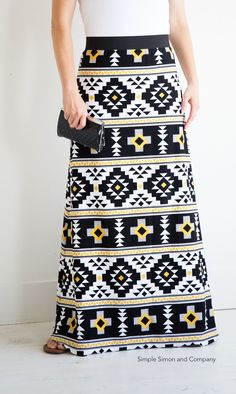 Simple Maxi Skirt PDF Pattern---FREE!!! Simple Simon and Company