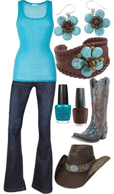 """Turquoise and Brown"" by rikki1398 on Polyvore"
