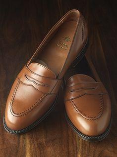 The Alden Full Strap Slip-On Loafer in Burnished Tan