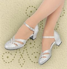 Aris Allen silver dance shoes - cheaper than many. No fluted heel though. Women's Shoes, Pump Shoes, Me Too Shoes, Shoe Boots, Pumps, Pretty Shoes, Beautiful Shoes, Bridal Shoes, Wedding Shoes
