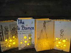 The Little Price, 4 Petit Luminary Bags, Antoine de Saint Exupery, Little Prince Book Art, Baby Shower Decor, Baby Gift, Prince, Book Art