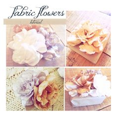 DIY Fabric peonies. I'd like to put some very light pastels on a gray or black purse.