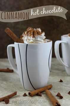 This Cinnamon Hot Chocolate Recipe is really simple to make and soooo sweet and yummy! It's perfect for a cold day. My kids slurped it down so fast!