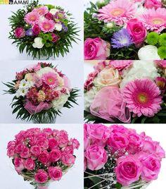 Beautiful pink flowers by Studio AMMI Florists, Amazing Flowers, Flower Decorations, Pink Flowers, Floral Wreath, Bouquet, Wreaths, Studio, Beautiful