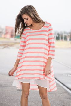 """""""Seeing Is Believing Dress, Neon Coral"""" 