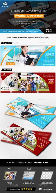2 Facebook Cover Hospital Doctor and Insurance Medical - Facebook Timeline Covers Social Media