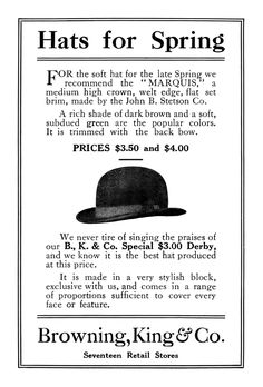 Vintage Mens Hat ad