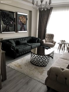 Duvar Dekorları Bu Salona Dekorasyonuna Göz Alıcılık ve Doku Katıyor Sofa Design, Interior Design, Living Room Designs, Living Room Decor, Diy Home Decor For Apartments, Formal Living Rooms, Modern Living, House Rooms, Luxury Living