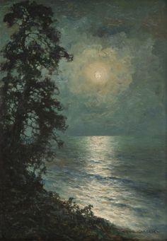 Wiktor Korecki - Księżyc nad jeziorem