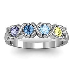 once done having kids get a ring like this and get each of their birthstones in order from oldest to youngest