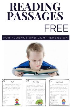 Help your students build their reading fluency and reading comprehension skills with these free phonics based reading passages. Great for kindergarten and first grade or for remedial practice in second grade. #reading #fluency #comprehension #elementary #kindergarten #firstgrade #secondgrade