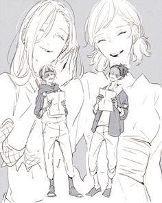 Ino, Temari, Inojin, and Shikadai