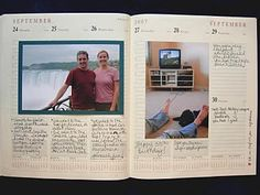 """year in review...an awesome handmade """"scrapbook"""" idea - if it's fair to call it that."""