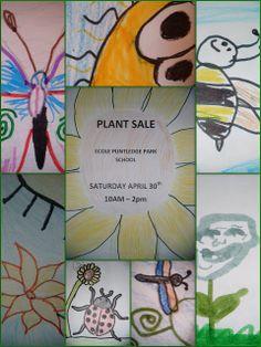 The Plant Sale! The above artwork are collages of Puntl. Plant Sale, Fundraisers, School, Garden, Artwork, Plants, Ideas, Garten, Work Of Art