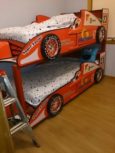 Racing car bunks Designed and built by us :) car bed bunk bed