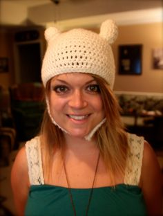 Adventure Time Finn crochet Hat