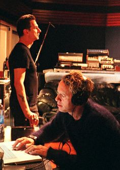 Dave Gahan . MartinGore, Gahore,  Depeche Mode in the studio