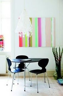 Use fluo paint for bedroom painting with mix of pastel hues