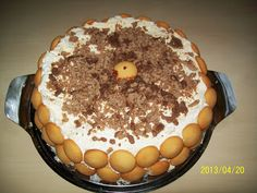 Mascarponés gesztenye torta Tiramisu, Ethnic Recipes, Food, Meal, Essen, Hoods, Tiramisu Cake, Meals, Eten