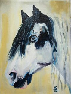 Check out this item in my Etsy shop https://www.etsy.com/listing/288962799/original-art-horse-portrait-painting