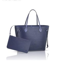 Louis Vuitton EPI neverfull in blue...I want!