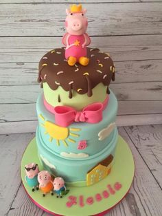 Peppa Pig & Family - Cake by Sweet Cakes