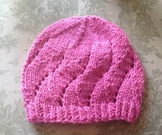 Raverly: Meadowsweet Baby Hat by Sarah Franklin -- free pattern