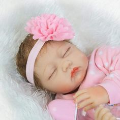 NPKDOLLS Reborn Baby Dolls Girl Reborn Dolls Lifelike Soft Vinyl Silicone Baby Doll Realistic Newborn Baby Babies 22 inch Children Gifts ** Read more at the image link. (This is an affiliate link) Baby Dolls For Kids, Baby Doll Toys, Baby Alive Dolls, Baby Girl Dolls, Baby Doll Clothes, Boy Doll, Pink Clothes, Reborn Baby Girl, Reborn Babypuppen