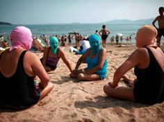 Forget SPF 50, it's the Face-kini!  Would you wear this to the beach?