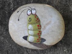 I like how the artist used a rock/stone as his canvases