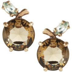 Apple Jeweled Stud Earring ($28) ❤ liked on Polyvore featuring jewelry, earrings, jeweled earrings, jewels jewelry, stud earrings and jewel earrings