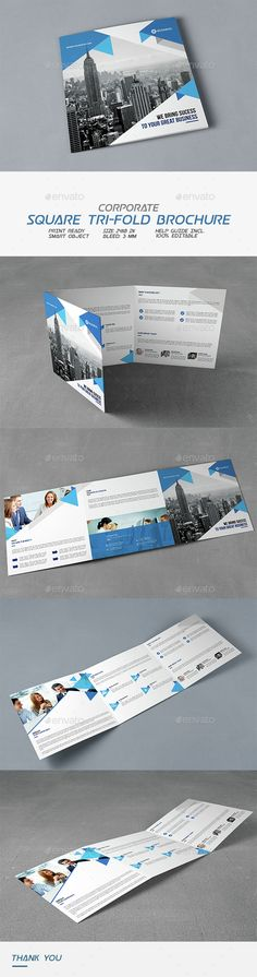Square Corporate Tri-Fold Brochure Template PSD. Download here: http://graphicriver.net/item/square-corporate-trifold-brochure/14631020?ref=ksioks