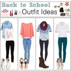 Back to School: Outfit Ideas by breaanne on Polyvore featuring polyvore, fashion, style, Abercrombie & Fitch, Ann Demeulemeester, 7 For All Mankind, Converse, Zara, Steve Madden and Victoria's Secret
