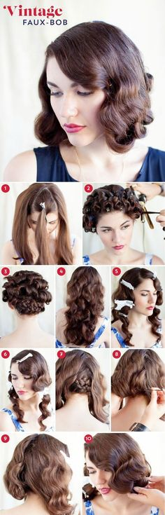 DIY Hair Tutorials: Gorgeously Faux-bob