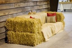 Hay Bale Couch..good for pictures                                                                                                                                                                                 More