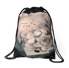 """Collage ""Reminiscence"" "" Drawstring Bags by floraaplus 