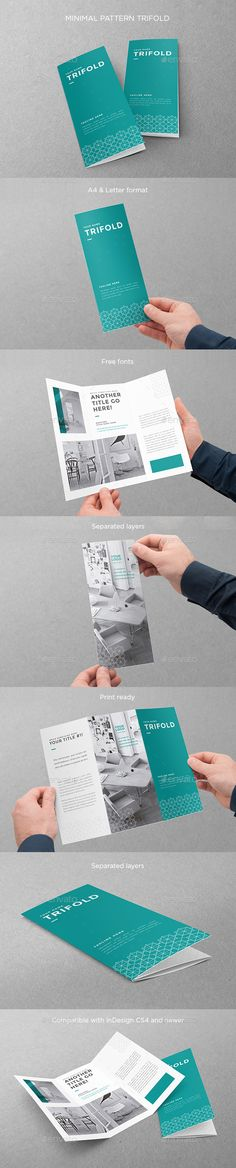Minimal Pattern Trifold Brochure Template #design Download: http://graphicriver.net/item/minimal-pattern-trifold/12813772?ref=ksioks