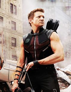 Seriously Renner….. Your arms need to stop being so attractive.
