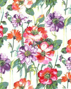 Flower Power - Garden Blooms - White