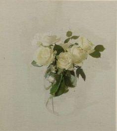 Avila Roses V by Antonio Lopez Garcia