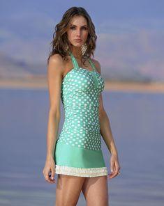 Mint polka-dot swim suit from Divinita Sole