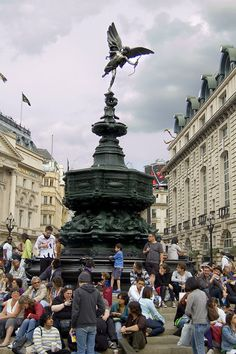 Shaftesbury Monument Memorial Fountain - to give it its full name, is one of London's most powerful visitor-magnets. That's Anteros on top, the god of 'requited love', not Eros his frivolous brother, as is commonly & mistakenly supposed.
