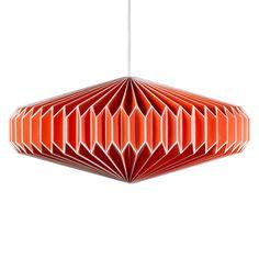 Zodiac goldfish orange paper lampshade from Wild & Wolf