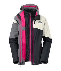 The North Face Women's Jackets & Vests 3-IN-1 JACKETS WOMEN'S CINNABAR TRICLIMATE® JACKET (LRG)