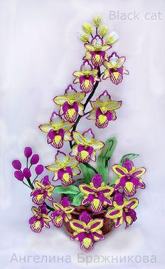 Пламенный цимбидиум   ¡ que hermoso colorido ¿donde se encuentran esas beads? ¡