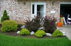 landscape ideas for front yard pictures   Family Balance Sheet: Front yard landscaping - We did it ourselves!