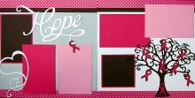 Hope Breast Cancer Scrapbook PageKit. 7.00