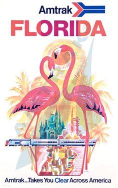 Amtrak poster Florida beautiful