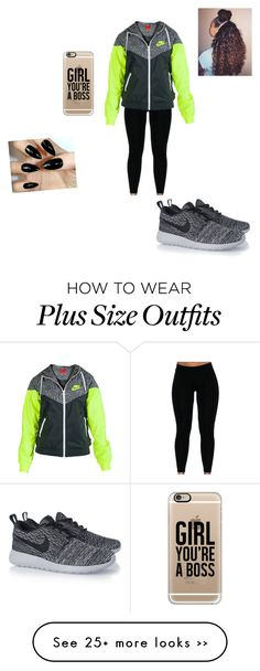 """going to chill"" by qveen-veya on Polyvore featuring NIKE and Casetify"