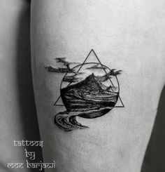 mountain geometric tattoo by moe barjawi by moe-barjawi-tattoos
